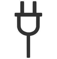plug silhouette vector image