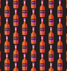 Pop art whiskey bottle seamless pattern vector