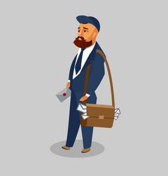 postman in professional uniform clipart vector image
