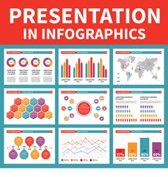 Presentation in Infographic vector image