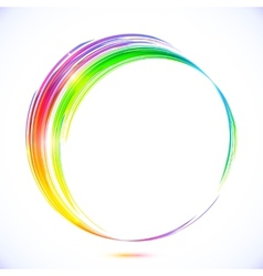 Rainbow abstract circle frame vector image