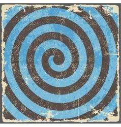 Retro vintage grunge spiral background vector