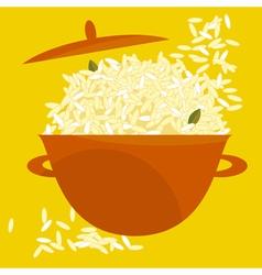 Rice pot vector