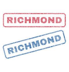 Richmond textile stamps vector