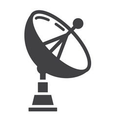 Satellite dish solid icon antenna and radar vector