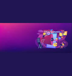 Search engines optimization concept banner header vector