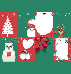 set of christmas card design vector image