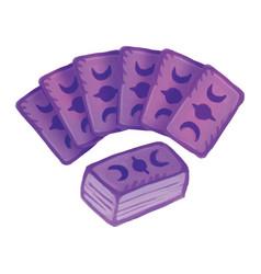 Set tarot decks cards a divination deck card vector