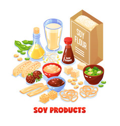 soy products design concept vector image