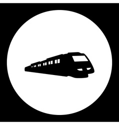 Speed train public transport silhouette icon eps10 vector