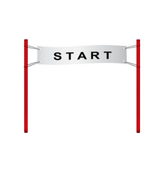 Start flag in retro design vector