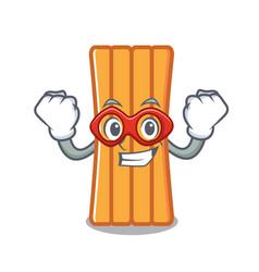 super hero air mattress character cartoon vector image