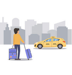 taxi online vector image