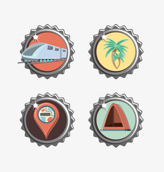 Travel vacations set icons icon ilustration vector