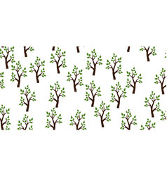 Trees seamless pattern vector