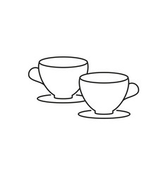 two cups icon vector image