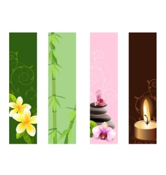 vertical spa banners vector image