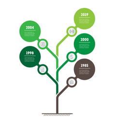 vertical timeline infographics the tree of vector image