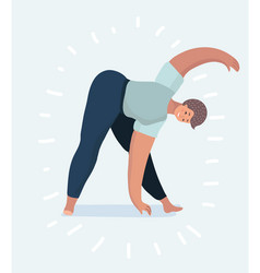 young woman or girl is practicing yoga poses vector image