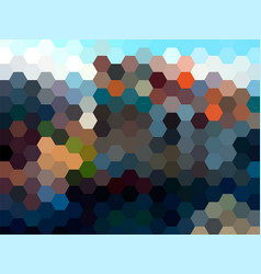 abstract hexagon landscape background vector image vector image