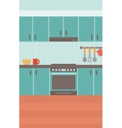 Background of kitchen vector image