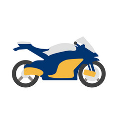 bike flat icon and logo cartoon vector image