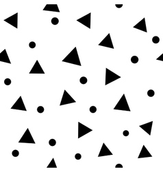 Circle and triangle seamless pattern vector image vector image