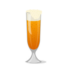 glass mug of frothy beer isolated icon vector image vector image