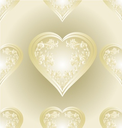 Seamless texture heart of ornaments vector