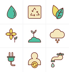Icons Style Eco icons vector image