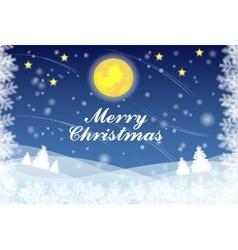 Snowflake christmas background vector image vector image