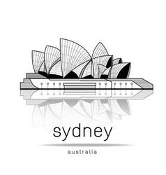 sydney opera house design vector image