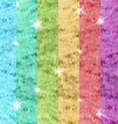 abstract origami colored background presentation vector image