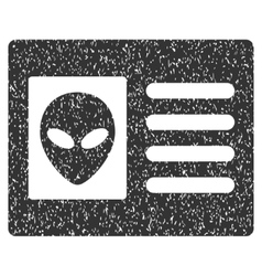 Alien Account Card Grainy Texture Icon vector image
