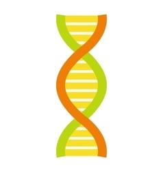 Flat DNA and molecule symbol vector image