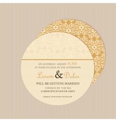 Round vintage invitation card vector