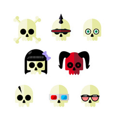 skulls part two vector image