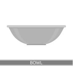 steel bowl icon vector image vector image