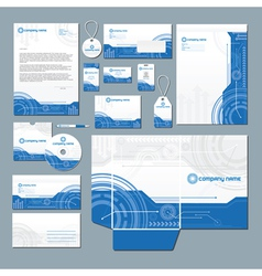 Technology stationery set vector image