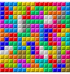 Tetris board background vector image