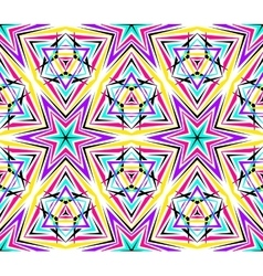 Thin Kaleidoscope Star Pattern vector image