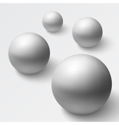 Abstract background with realistic grey spheres vector image vector image