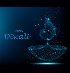 happy diwali deepavali light and fire festival vector image vector image