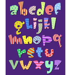 lower case comic alphabet vector image vector image