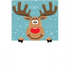 Rudolph Christmas background vector image vector image