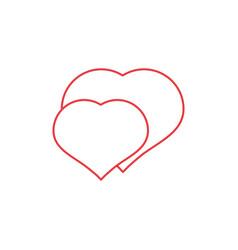 two hearts icon vector image vector image