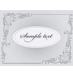 Vintage Classic Invitation card vector image