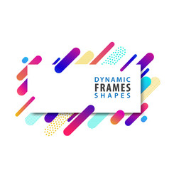 abstract rectangle frames with dynamic shape vector image