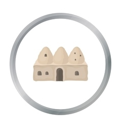 Beehive house icon in cartoon style isolated on vector