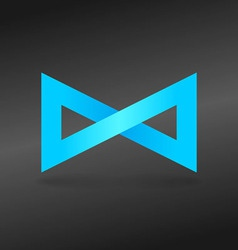 Blue endless sign vector